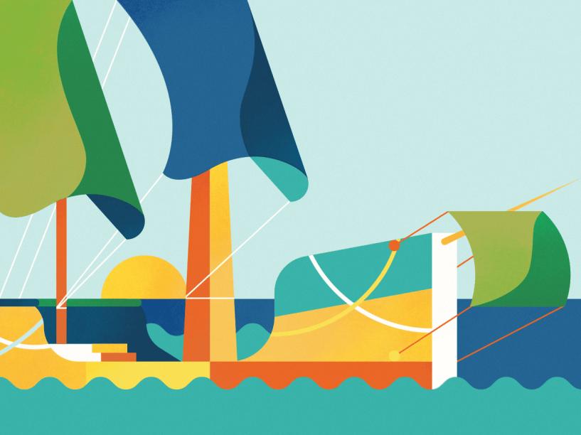 Com o passar dos séculos, o sistema de transporte por água se diversificou, mas os modelos sem motor continuaram muito populares – como jangadas e veleiros. Esses modelos aquáticos foram usados por diferentes civilizações para atravessar milhares de quilômetros de oceanos. Mas a viagem sempre dependeu dos ventos