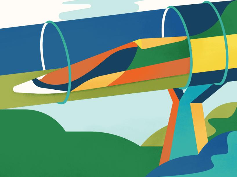 Futuro: como vimos nos exemplos anteriores, a sociedade se transforma rapidamente, e os meios de se locomover também. Daqui a três anos, pode se tornar realidade o Hyperloop, um sistema tecnológico de cápsulas lançadas dentro de tubos de transporte. A intenção é que ele seja usado em todos os lugares onde a infraestrutura de tubos for construída, começando pelos Estados Unidos: espera-se que as cápsulas consigam viajar a até 1 200 quilômetros por hora. Daria pra fazer São Paulo a Brasília em 50 minutos e São Paulo a Porto Alegre (RS) em praticamente uma hora. O Hyperloop é só um dos exemplos que apontam para o futuro da inventividade aplicada à mobilidade. Nos próximos anos, veremos surgirem sistemas cada vez mais inteligentes, conectados e autônomos, drones para uso pessoal e foguetes capazes de ir ao espaço e retornar em segurança