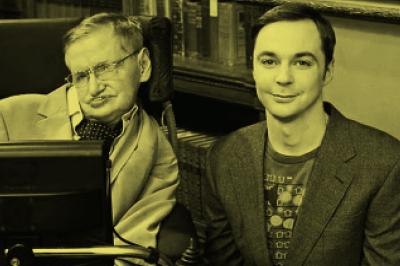 The Big Bang Theory:Hawking contracenou sete vezes com Sheldon.