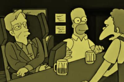 Os Simpsons: Nos quatro episódios em que aparece, ele se dublou.