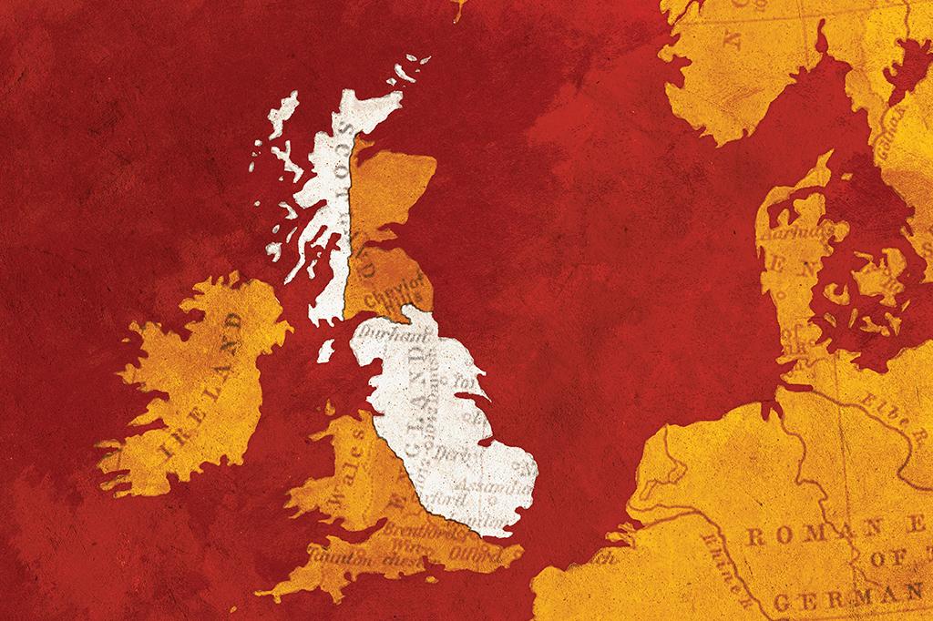 <strong>Danelaw: a região da colônia viking ocupou metade da ilha e deixou marcas profundas na cultura britânica.</strong>
