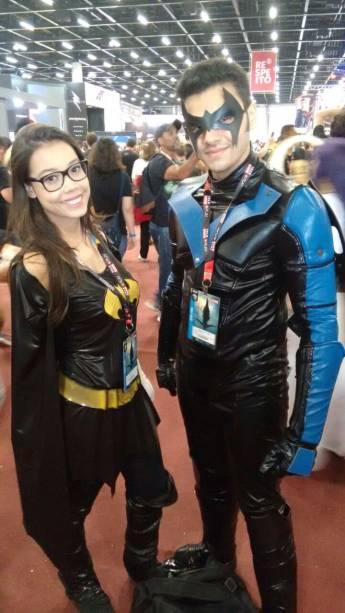 Renato e Gabriella, 19 anos. Batman e Robin