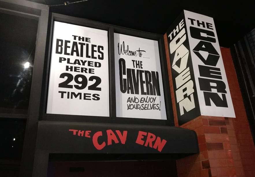 Reprodução da fachada do Cavern Club