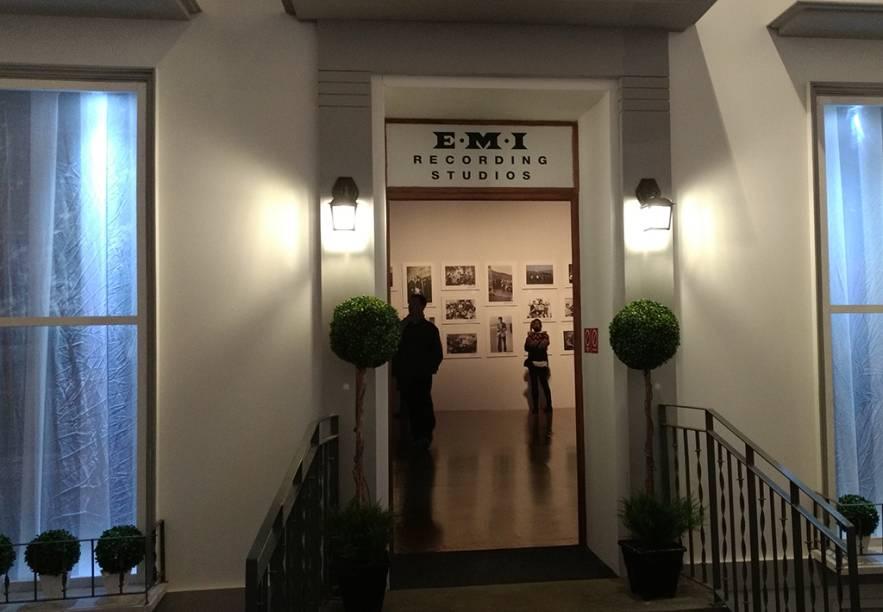 Reprodução da fachada dos estúdios Abbey Road