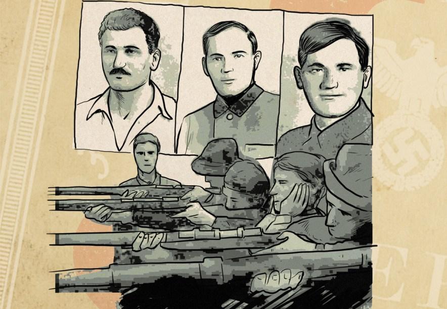 Os mercadores Tuvia, Zus e Asael Bielski