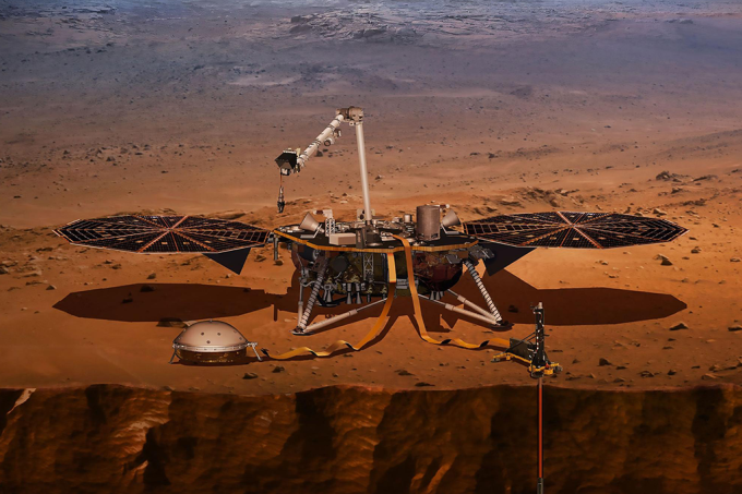 Sonda detectora de terremotos da Nasa decola sábado com destino a Marte