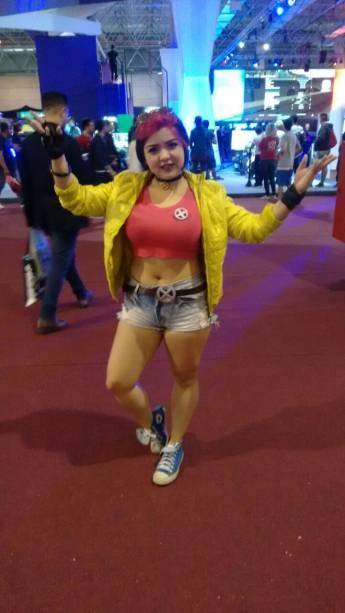 Letícia Kanesaki, 23 anos. Jubileu, X-Men