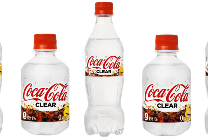 Coca-cola vai ter versão transparente – mas só no Japão_home