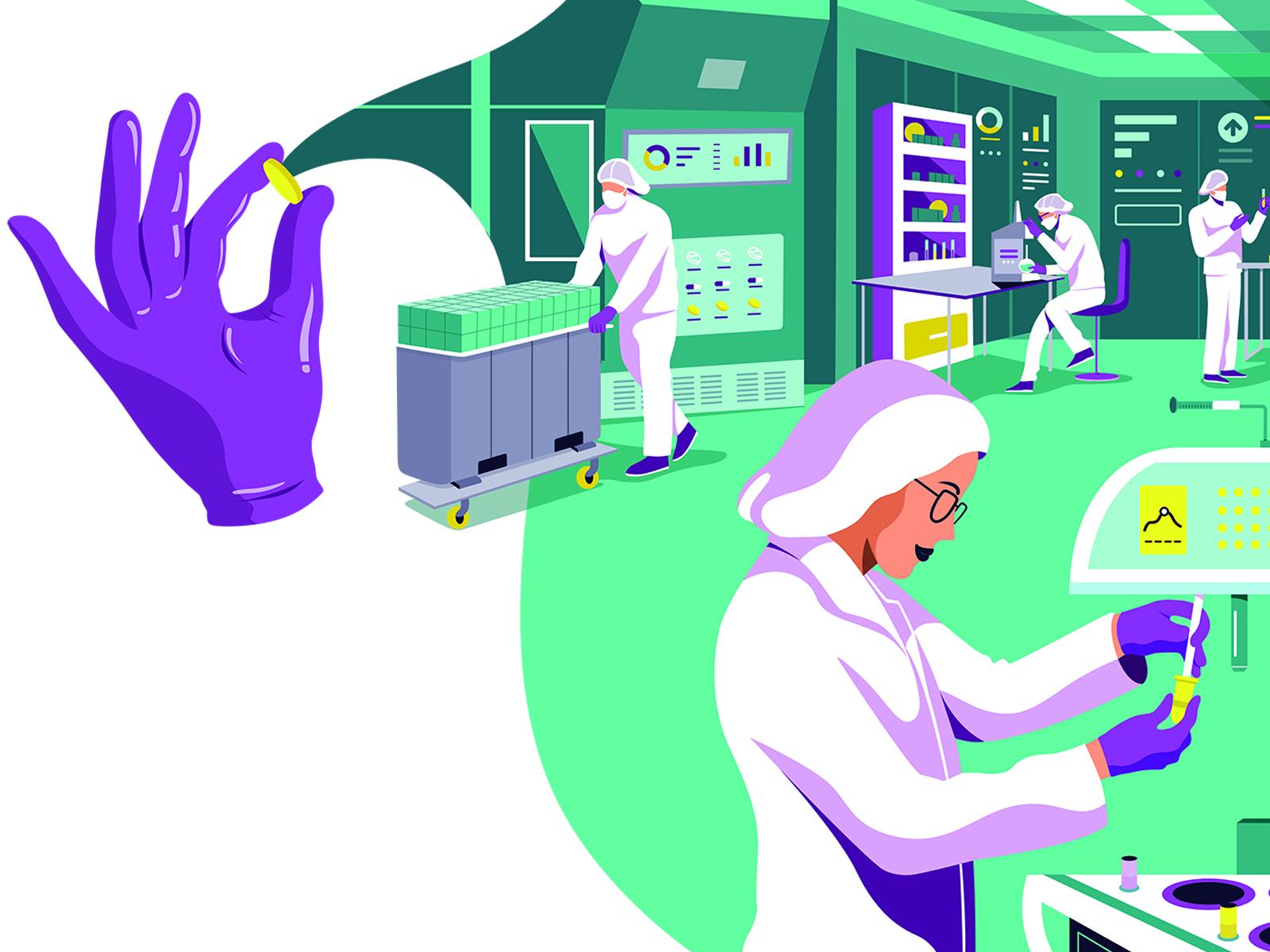 Uma bateria final de testes acontece antes do medicamento sair da fábrica
