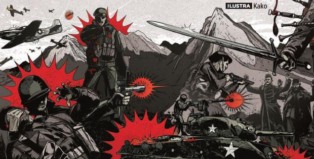soldados guerra luta batalha trincheira