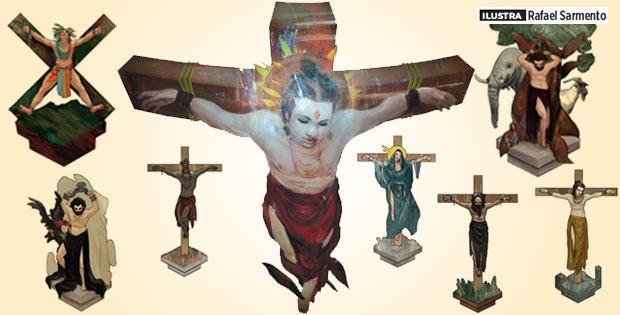 per-123-figuras-religiosas-crucificadas crucifixo santos religião
