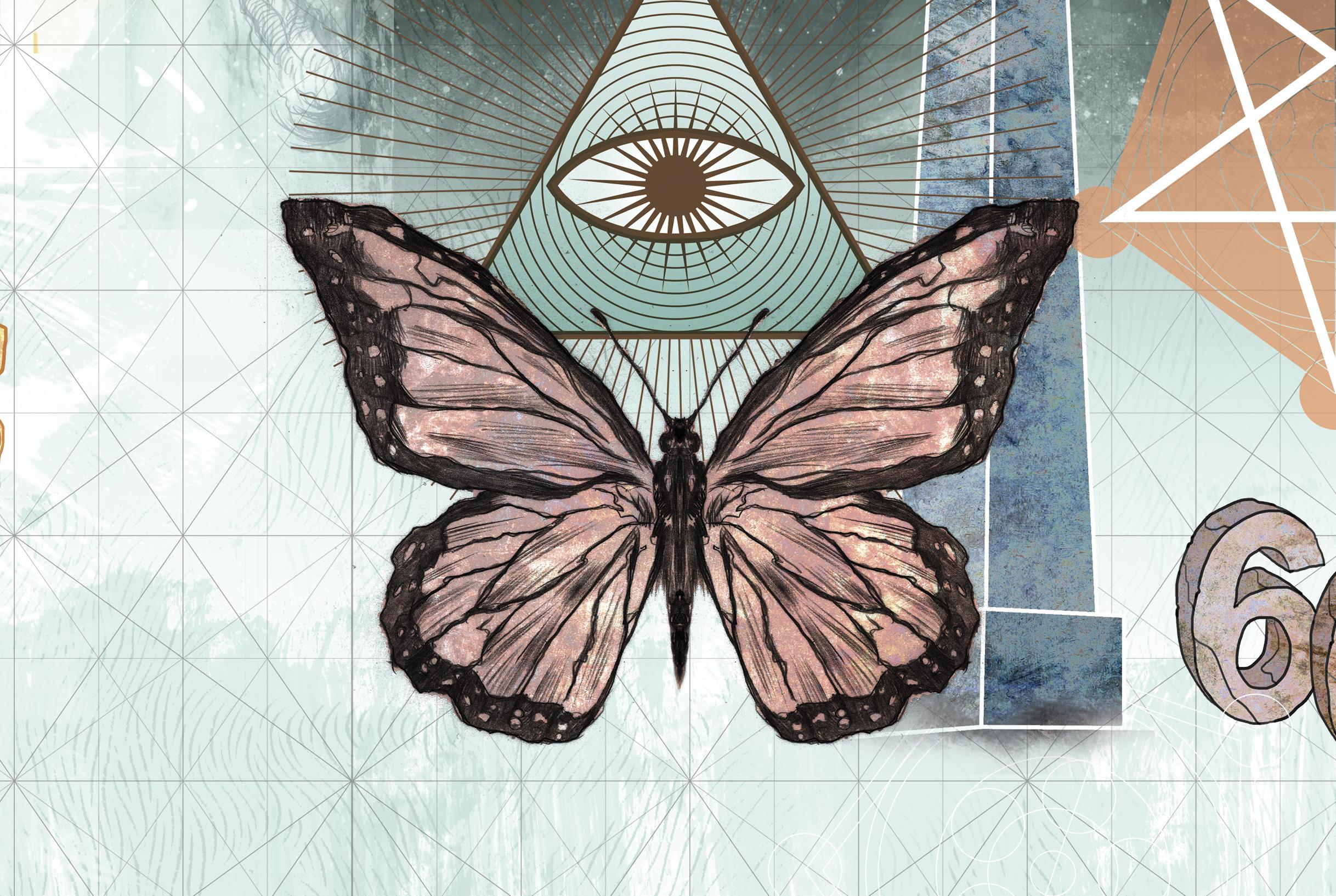 Simbolos Illuminatis - borboleta