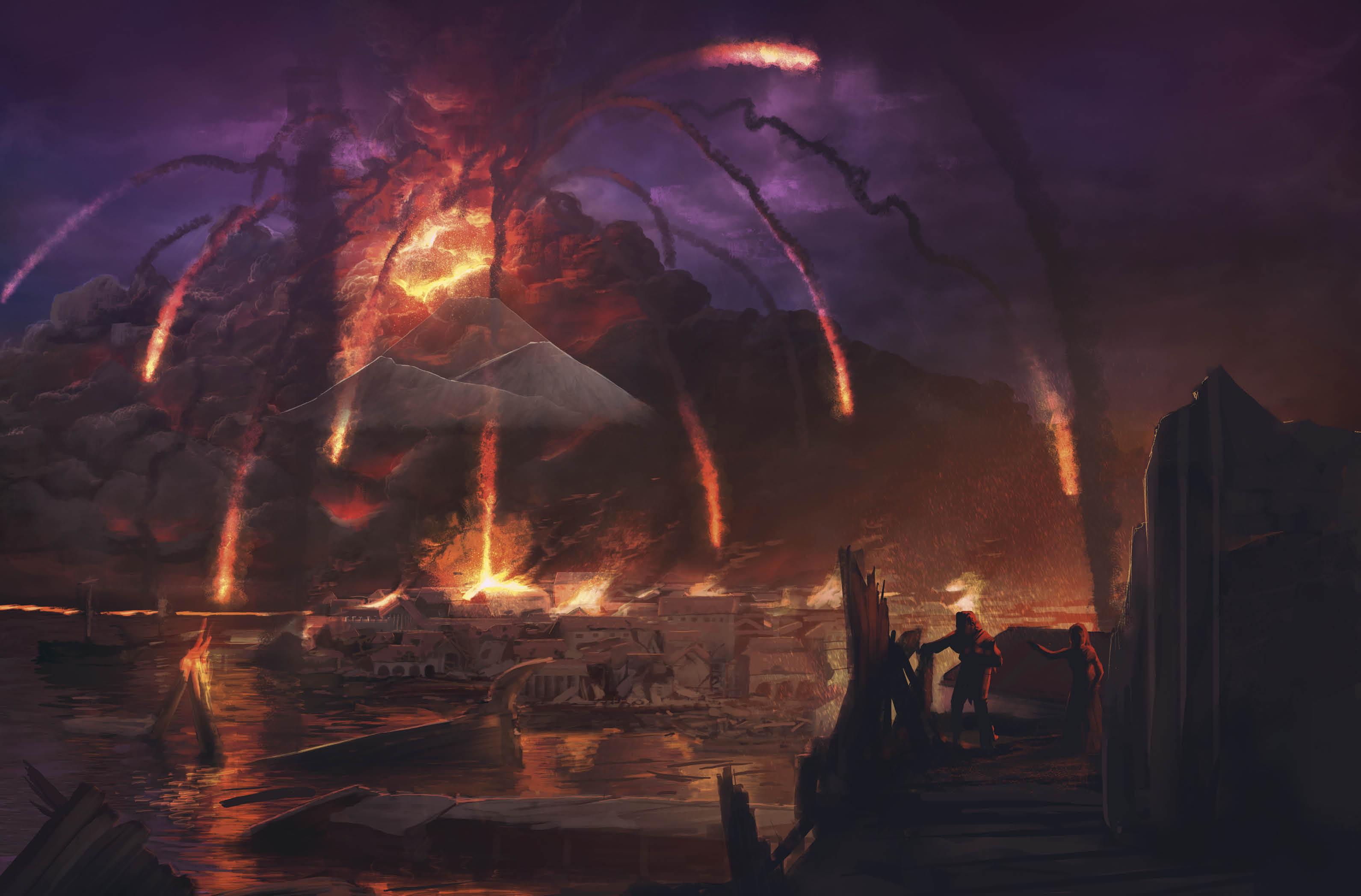 erupcao do vesuvio