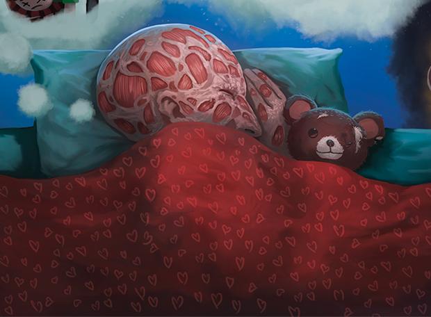 Fred Krueger dormindo