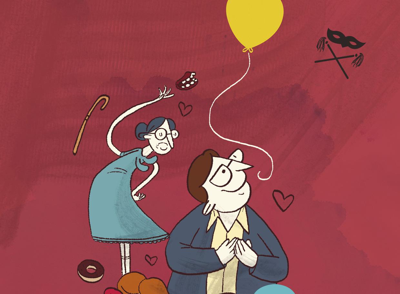 mulheres mais velhas e balões de festa