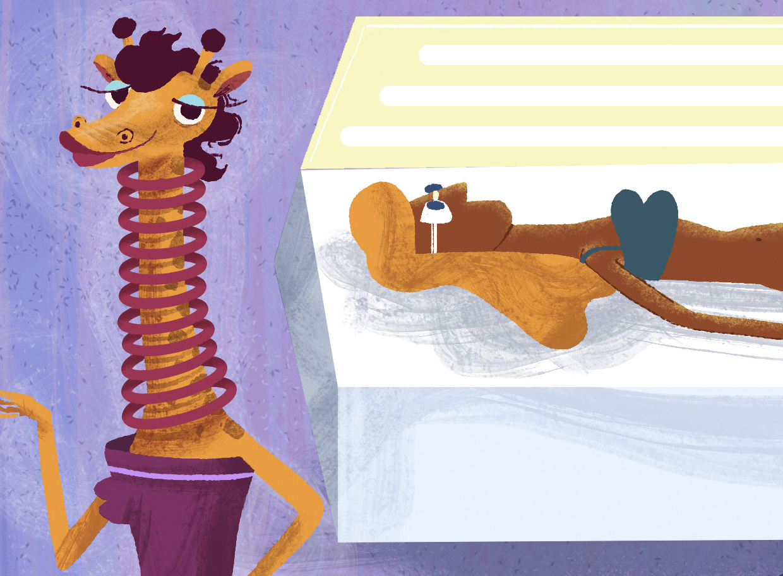 mulher girafa, bronzeamento artificial