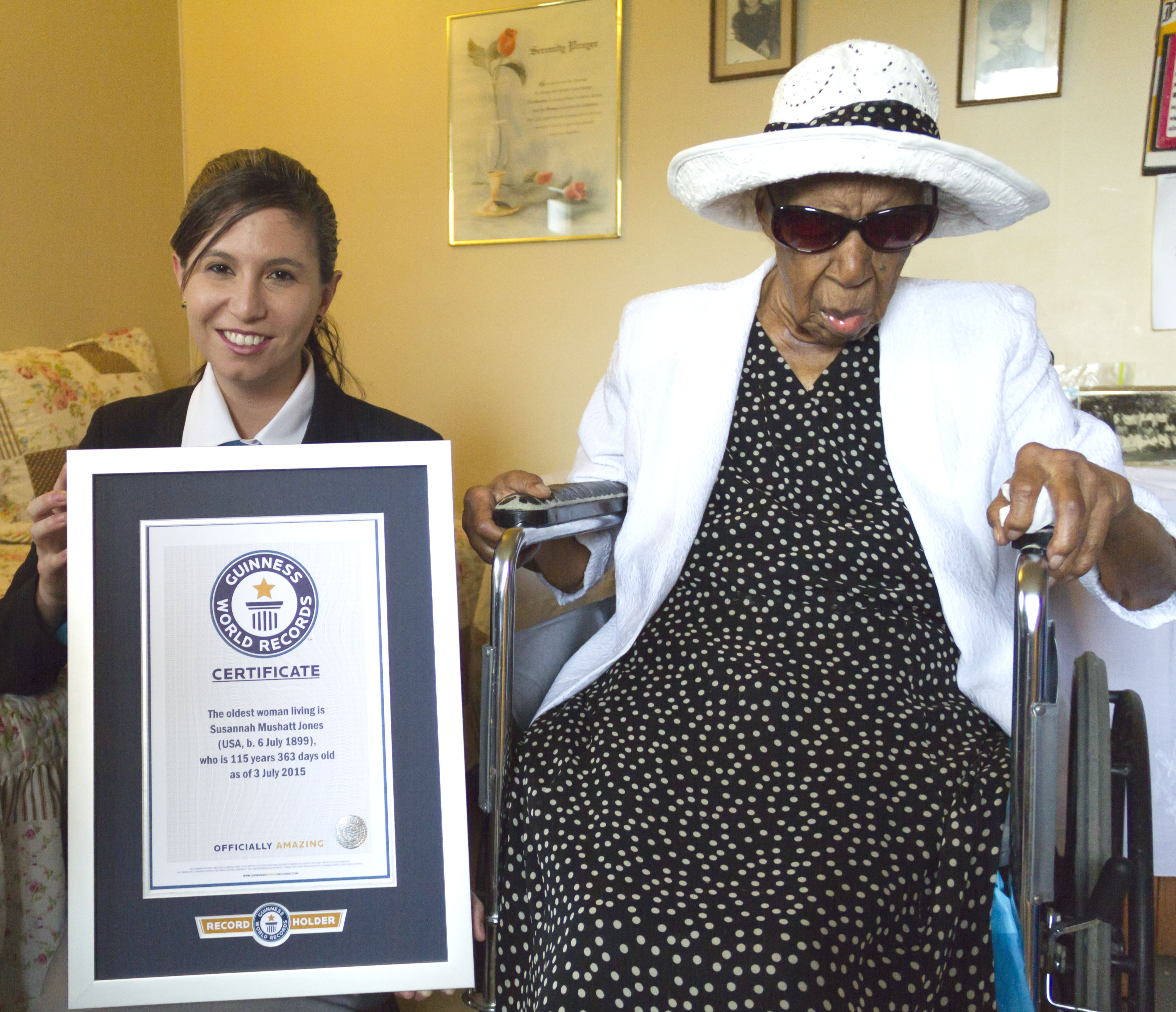 GWR Oldest living person S Jones and Kim Partrick 5