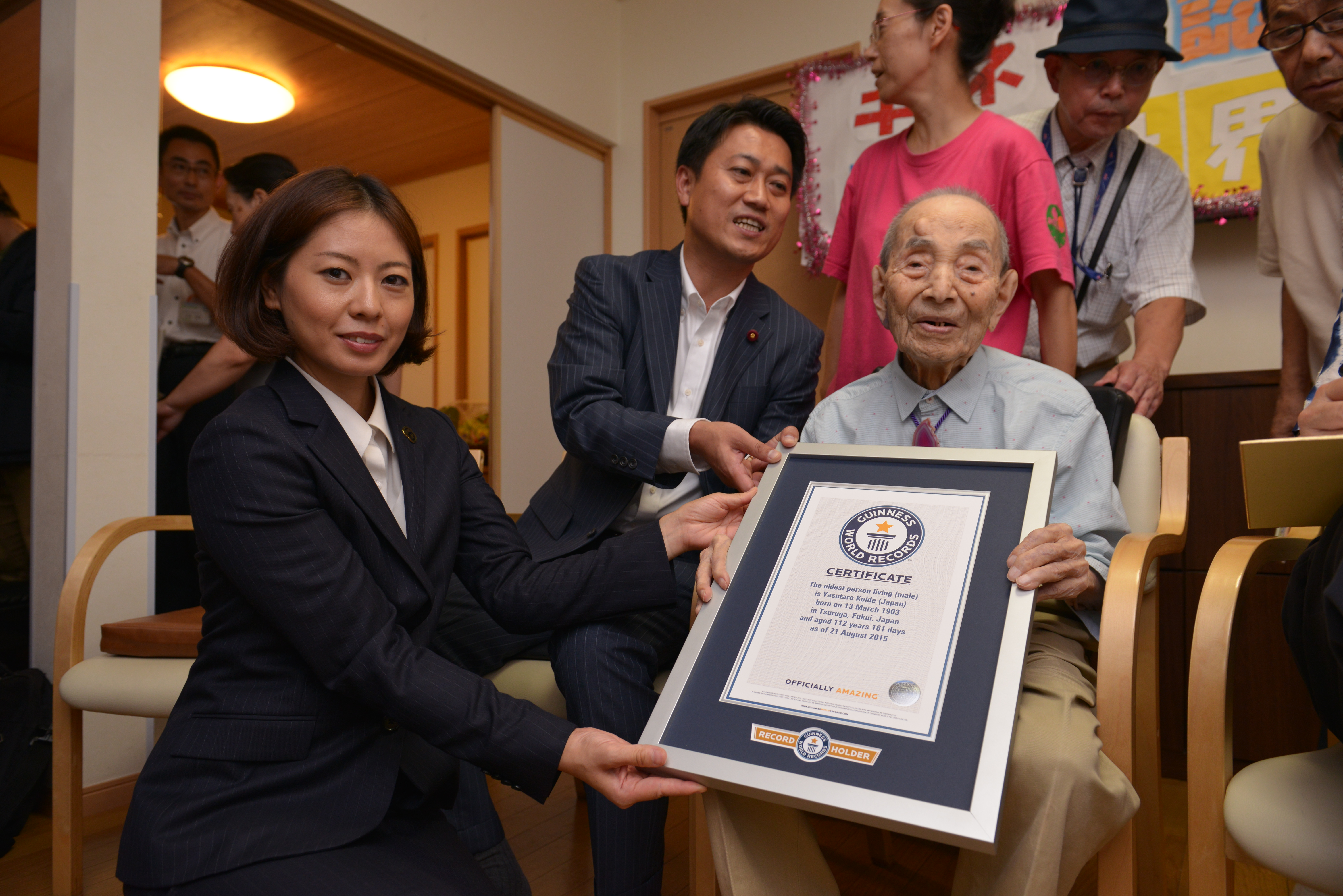 Oldest living person - male 2