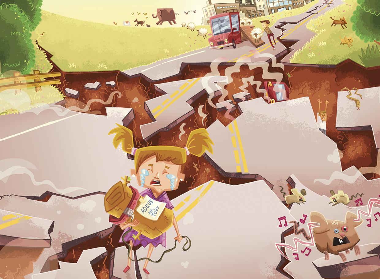 animais em terremotos