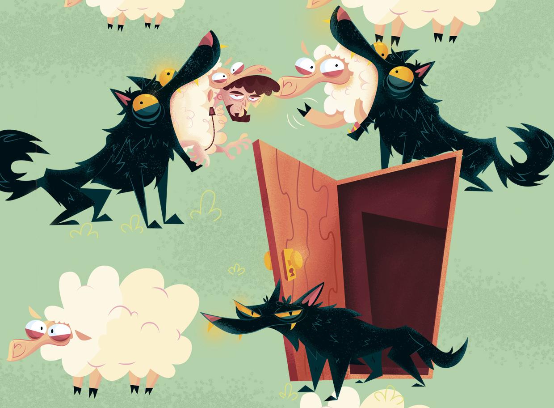quem se torna uma ovelha acaba devorado pelo lobo