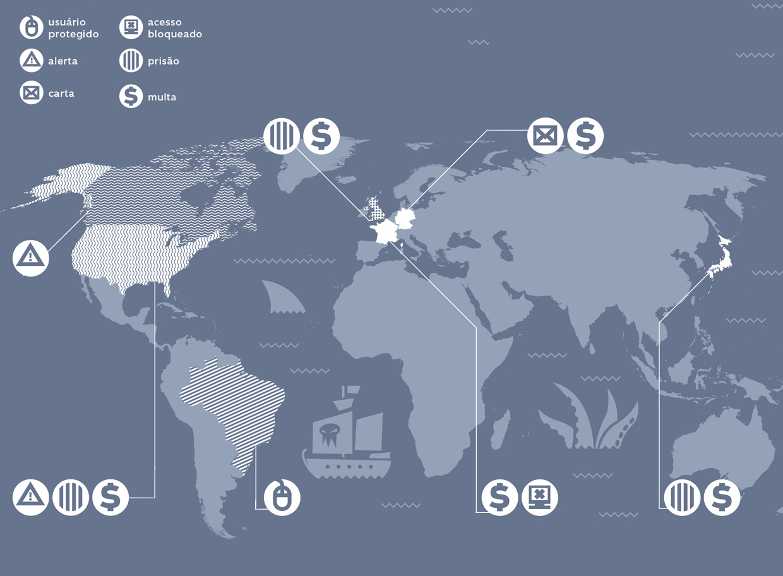 mapa de pirataria