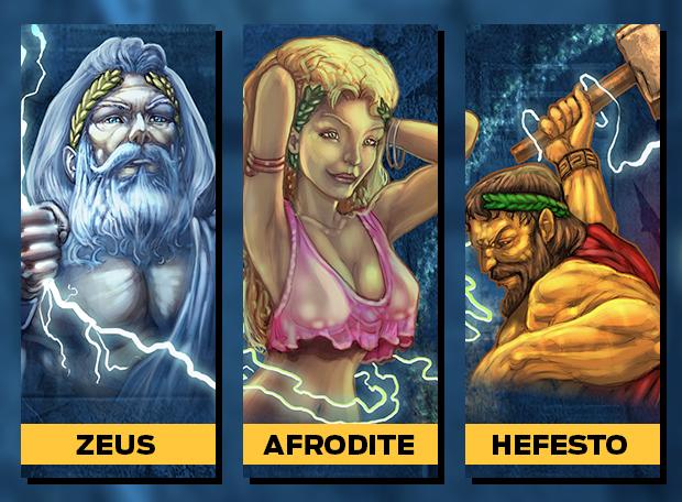 Zeus Hefesto Afrodite