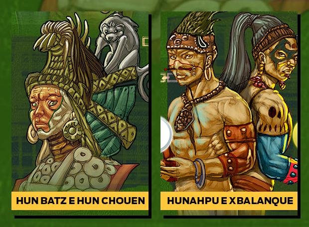 Hun Batz E Hun Chouen Hunah Pu E Xbalanque