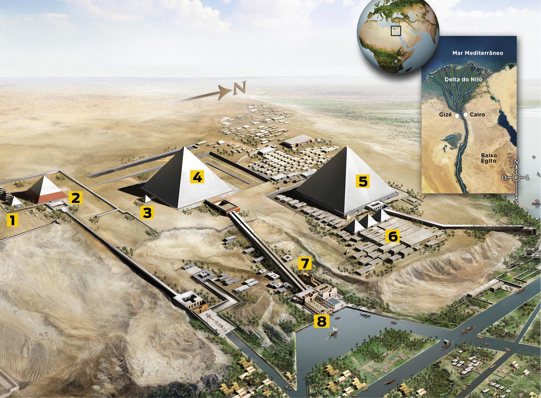 egito - paraíso arqueológico (mapa)