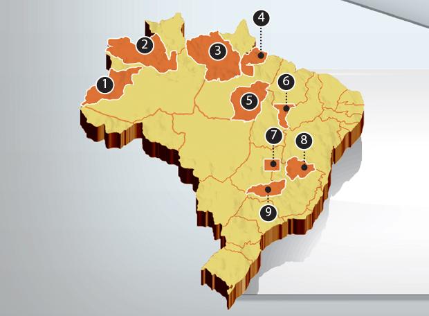 retalhos mapa Brasil