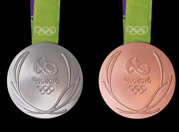 Medalha prata bronze