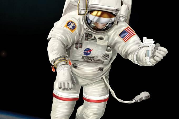 Como é um traje espacial?