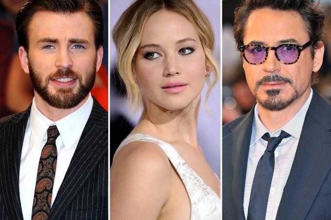 Chris Evans Jennifer Lawrence Robert Downey