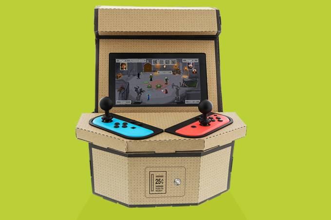 Switch ganha acessório que transforma console em arcade de papelão