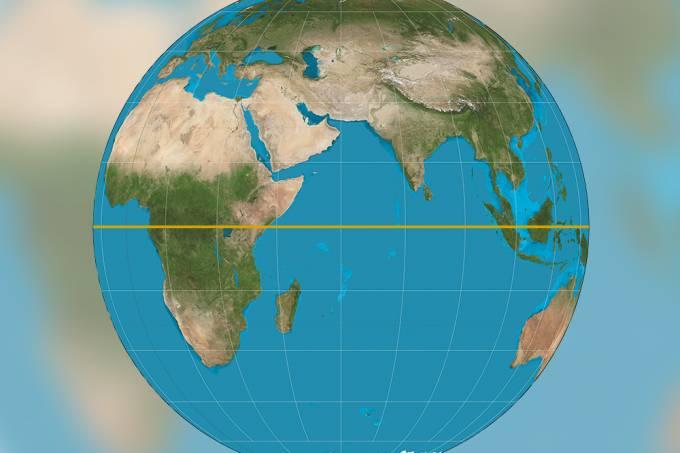Por que a linha do Equador tem esse nome se ela passa por vários países?