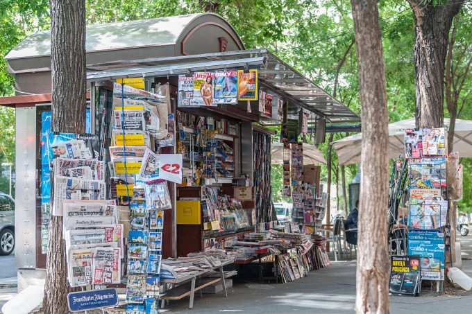 Spanish newsstand