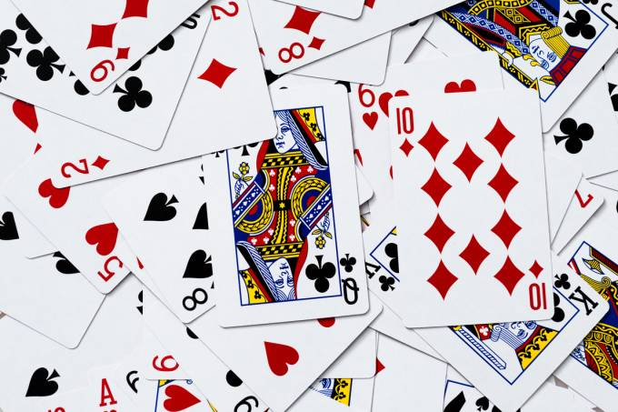 Playing cards texture