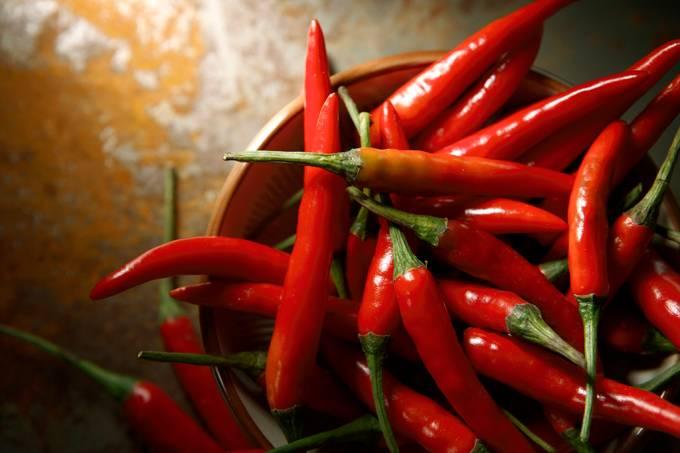 Vegetable Stills: Chili Pepper Red