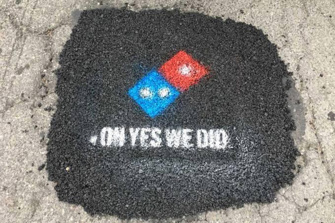 Rede de pizzarias assume o trabalho de prefeituras e tapa buracos nos Estados Unidos
