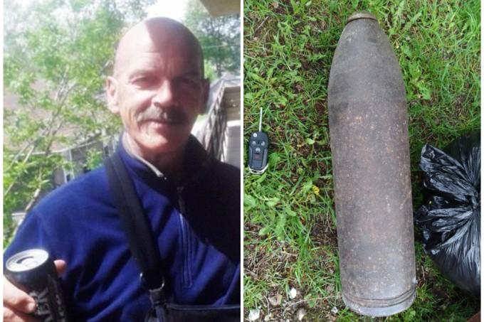 Homem encontra bomba da Primeira Guerra em quintal e vai comprar cerveja enquanto espera a chegada da polícia