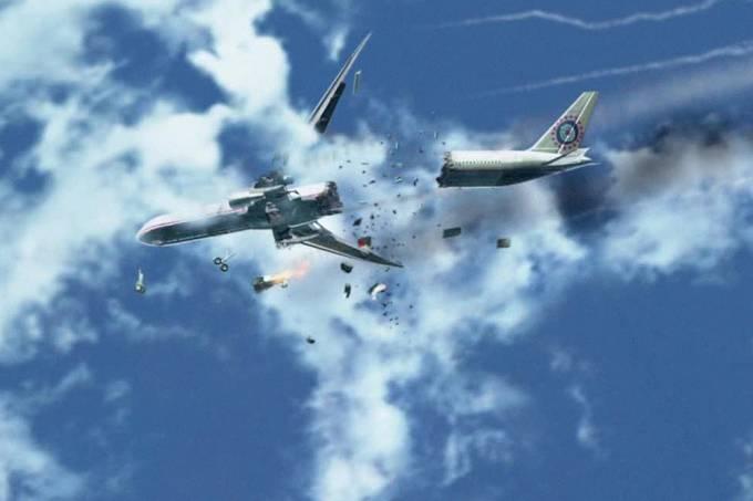 Qual é o risco de um avião sofrer um acidente?