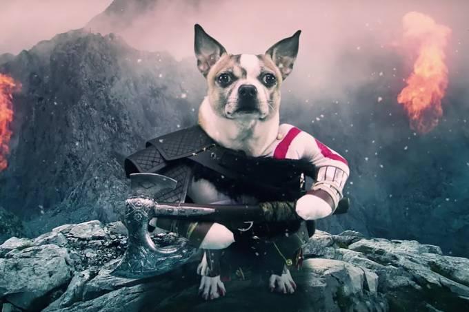 """Sony cria paródia de """"God of War"""" com cachorros"""