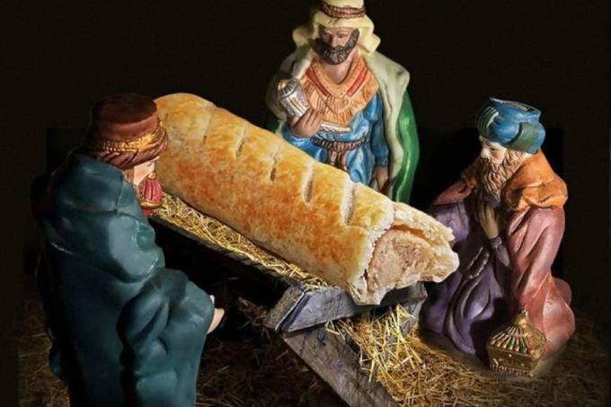 Padaria sofre ataques após retratar Jesus como um enroladinho de salsicha