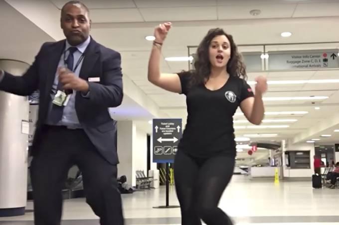 Confusão em aeroporto termina com vídeo extremamente positivo
