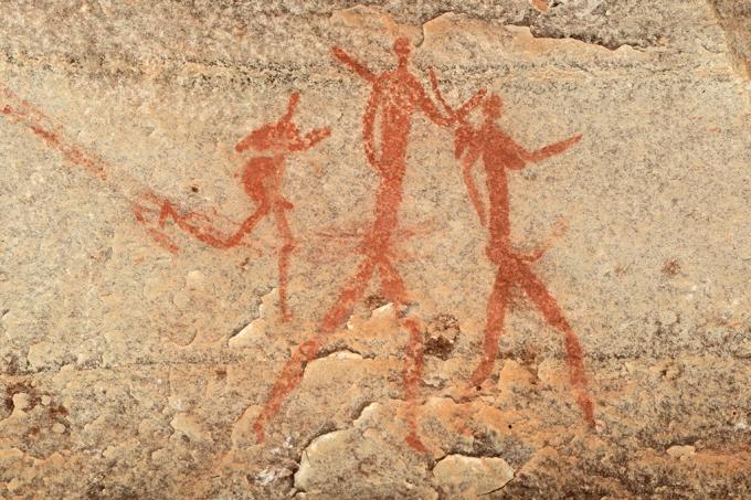 Pintura rupestre familia