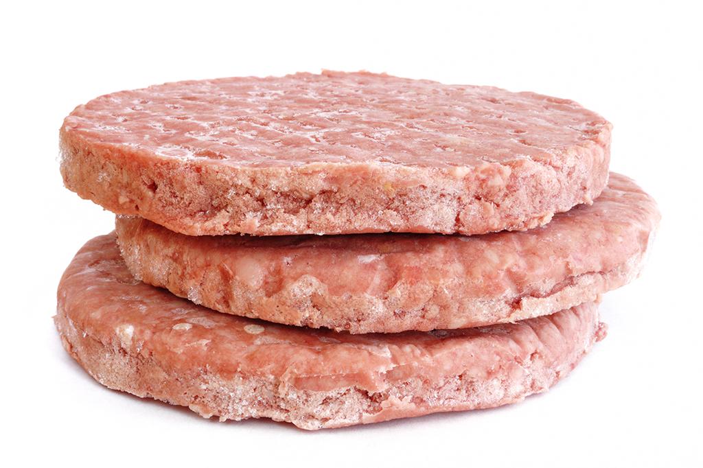 Ingredientes do rótulo hambúrguer congelado