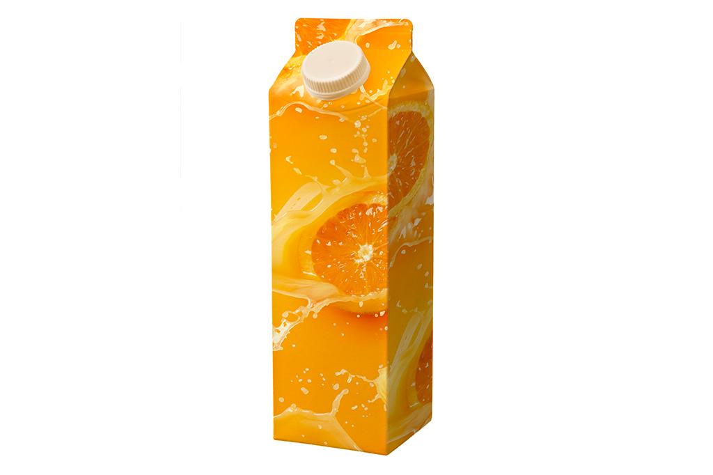 Ingredientes do rótulo de néctar de laranja