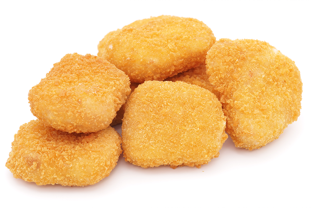 Os ingredientes do rótulo do nuggets de frango