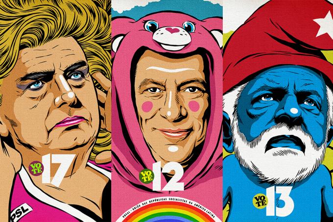 Ilustrador de Black Mirror faz posters para candidatos à presidência