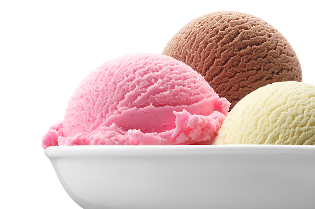 Ingredientes do rótulo de sorvete napolitano