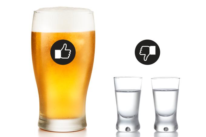 Cerveja vs vodca